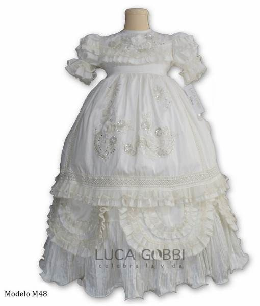 Ropon de Bautizo para Nina Luca Gobbi M48