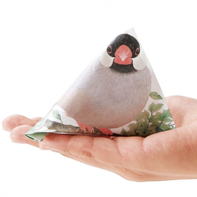 """Alight in the palm of your hand in the birth !! Kyururu ~ ~ ~ do such a pupil """"tetra Poti bag of hand ride Java sparrow"""". Felissimo """"YOU + MORE! [Humor] from """"  Corporation Felissimo press release"""