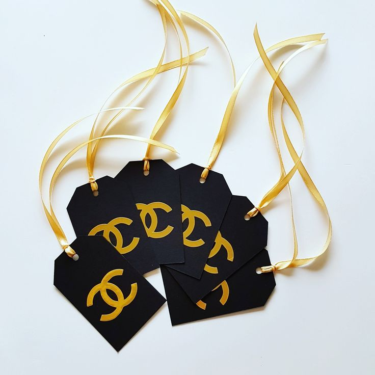 Tag Gold Chanel. Paper Party Decorations di modernkub su Etsy