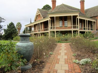 Urrbrae House Seen from the Rose Gardens.
