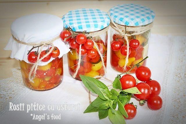 Angel's food: Rosii pitice(cherry) cu usturoi si busuioc