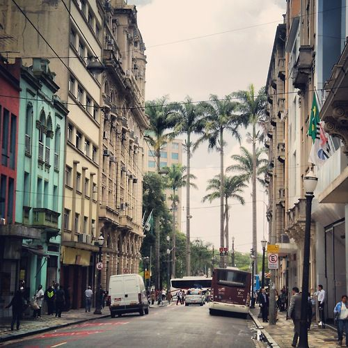 View from Benjamin Constant street in Sao Paulo, Brazil