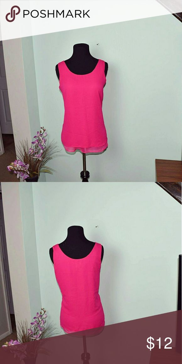 Adorable Hot Pink Flowy Blouse In excellent condition Tops Blouses