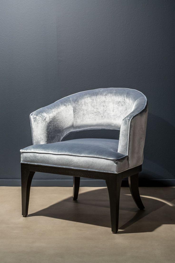 Onze prizzi fauteuil een vast gestoffeerde stoel met mooie rondingen en een opengewerkte rug - Mooie fauteuil ...