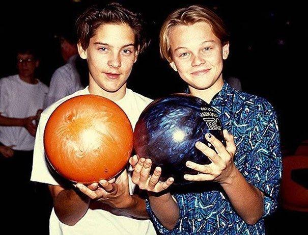 4.Tobey Maguire e Leonardo DiCaprio: amigos desde a década de 1990