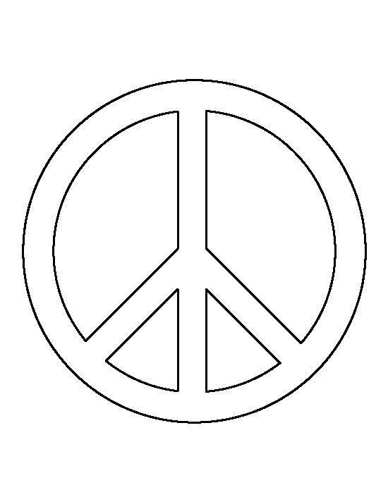 Peace sign pattern. Use the printable outline for crafts, creating stencils, scrapbooking, and more. Free PDF template to download and print at http://patternuniverse.com/download/peace-sign-pattern/