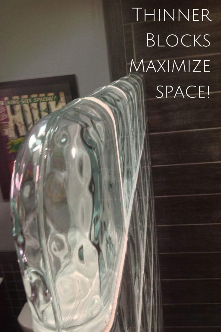 Did you know glass block shower walls can use thinner blocks to save space (and reduce costs)? Learn more here - http://blog.innovatebuildingsolutions.com/2015/07/18/7-tips-choose-glass-block-shower-wall-thickness/