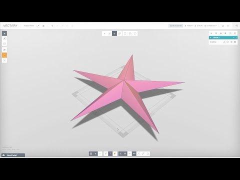 VECTARY | 3D modeling tutorial | Christmas star - YouTube