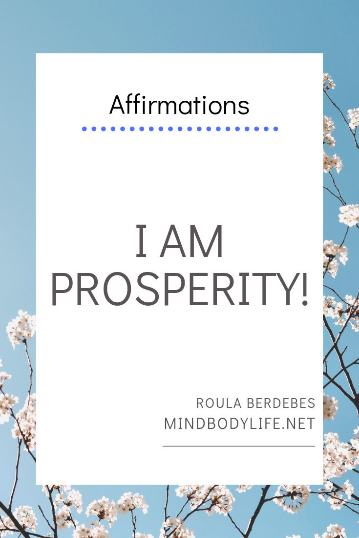 Affirmations of Abundance and Prosperity.