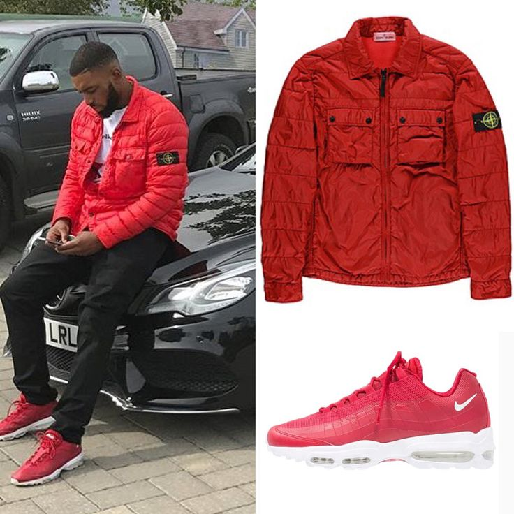 🎧Big Tobz @bigtobzsf Wearing: ▪️Stone Island Quilted Multi Pocket Red Overshirt Jacket £395.00 RRP @stoneisland_official ▪️Nike Air Max 95 Ultra Red Trainers £130.00 RRP @nike 💷Total – £525.00 RRP #grime #gold #london #dubai #usa #rapper #fashion #mensfashion #swag #stylish #luxury #rich #...