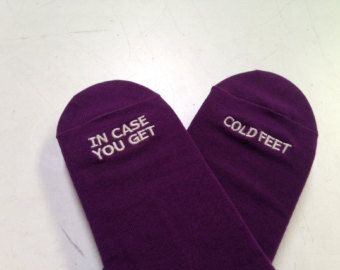 The 25 best cold feet ideas on pinterest groom wedding socks check out plum grooms socks in case you get cold feet wedding gift junglespirit Images