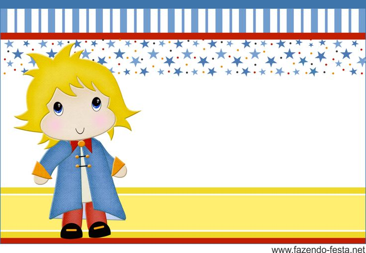 The Little Prince free printable invitation, card, bunting or candy bar label.