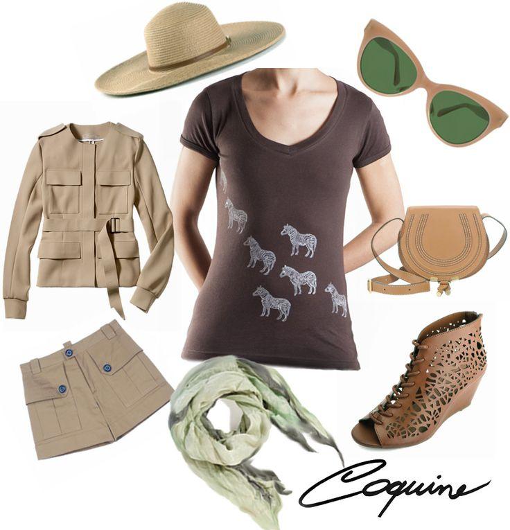 T shirt zebre Coquine