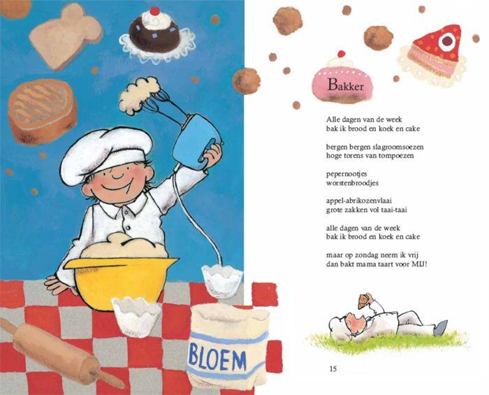 Thema: Koken en bakken versje bakker