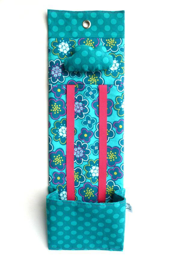 Organizador de horquillas Blue flowers / Marabara - Artesanio