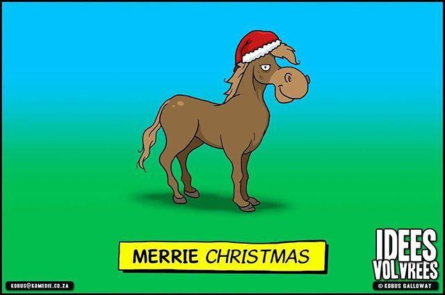 Hoe sê 'n vroulike perd vir haar man Geseënde Kersfees?  #ideesvolvrees #ivv #komedie #cartoon #xmas #merrie #christmas