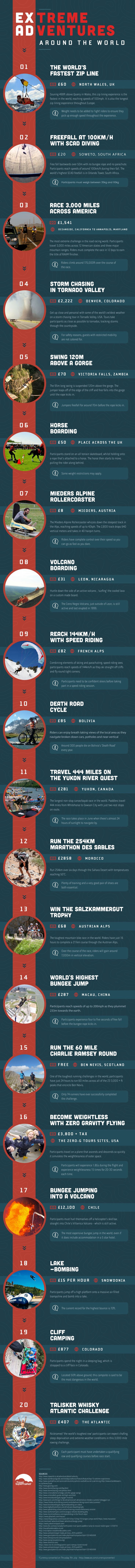 The World's Most Extreme Adventures - How Extreme Are You? #infographic #Travel…