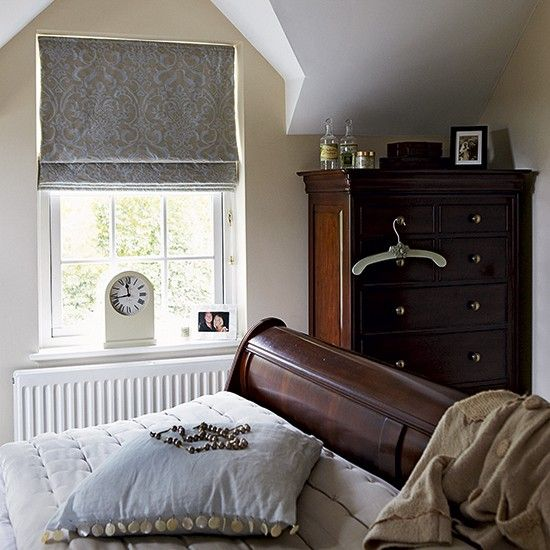 Woodland print bedroom with white wood panelling | Small bedroom design ideas | housetohome.co.uk