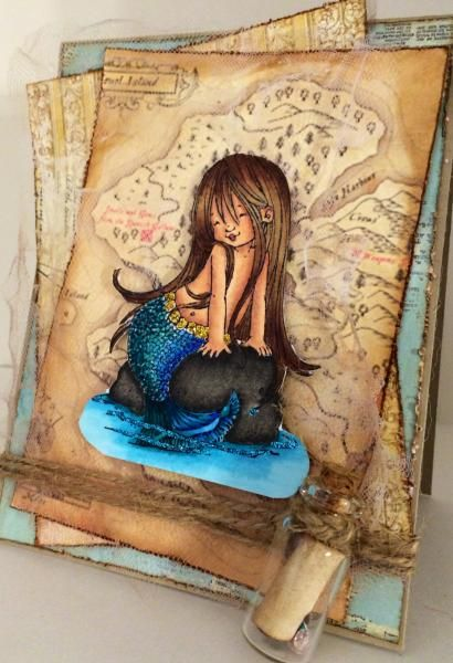 Little Mermaid by salome000 - Cards and Paper Crafts at Splitcoaststampers