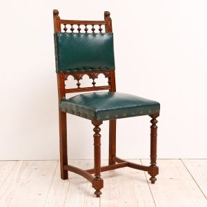 Set Of Six French Antique Neo Renaissance Dining Chairs In Oak C 1900