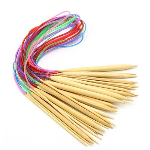 "From 6.99 Celine Lin 18 Sizes 40 Inch""(100cm)colorful Circular Bamboo Knitting Needles (2mm-10mm)"