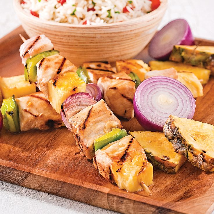 #brochettes #poulet #ananas  #gingembre