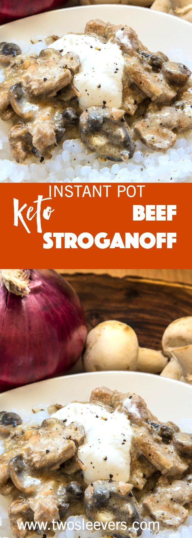 Instant Pot Keto Beef Stroganoff is a creamy, rich…