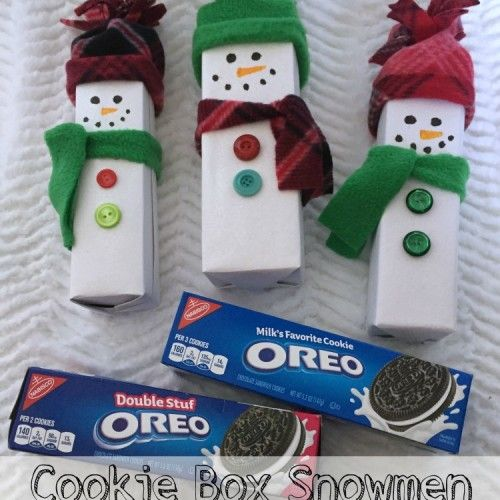 Cookie_box_snowmen | Christmas Traditions and Crafts | Pinterest