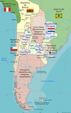 MAPOTECA VIRTUAL: MAPA HISTÓRICO DE ARGENTINA 1825-1852