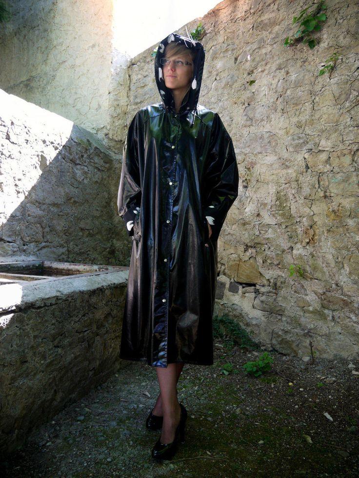 jeantex lack regenmantel raincoat 70 er jahre rarit t pvc. Black Bedroom Furniture Sets. Home Design Ideas