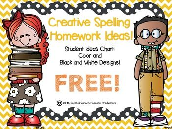 My kids and parents LOVE this FUN way to get spelling homework DONE. It inspires creativity and is differentiated to fit the learning styles of all students.Giving students the Creative Spelling Homework increased my spelling scores immensely!!!It's FUN and the Homework gets DONE......