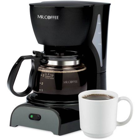 Mr. Coffee Simple Brew 4-Cup Switch Coffee Maker, DR Series, Black