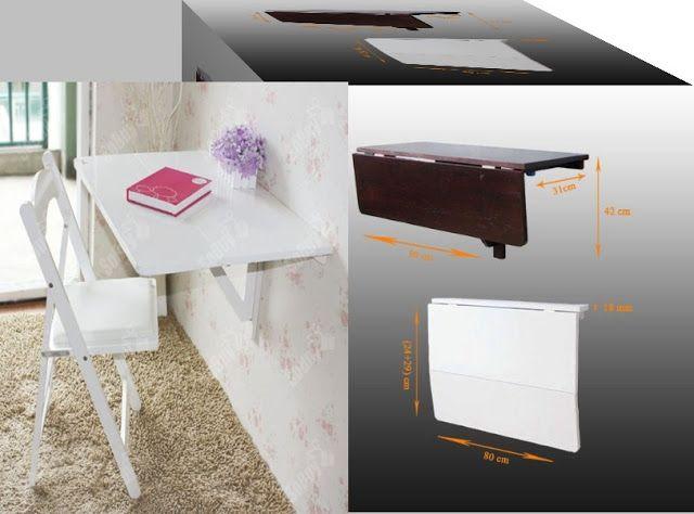 Muebles para todos los rincones mesa plegable de pared for Paredes plegables