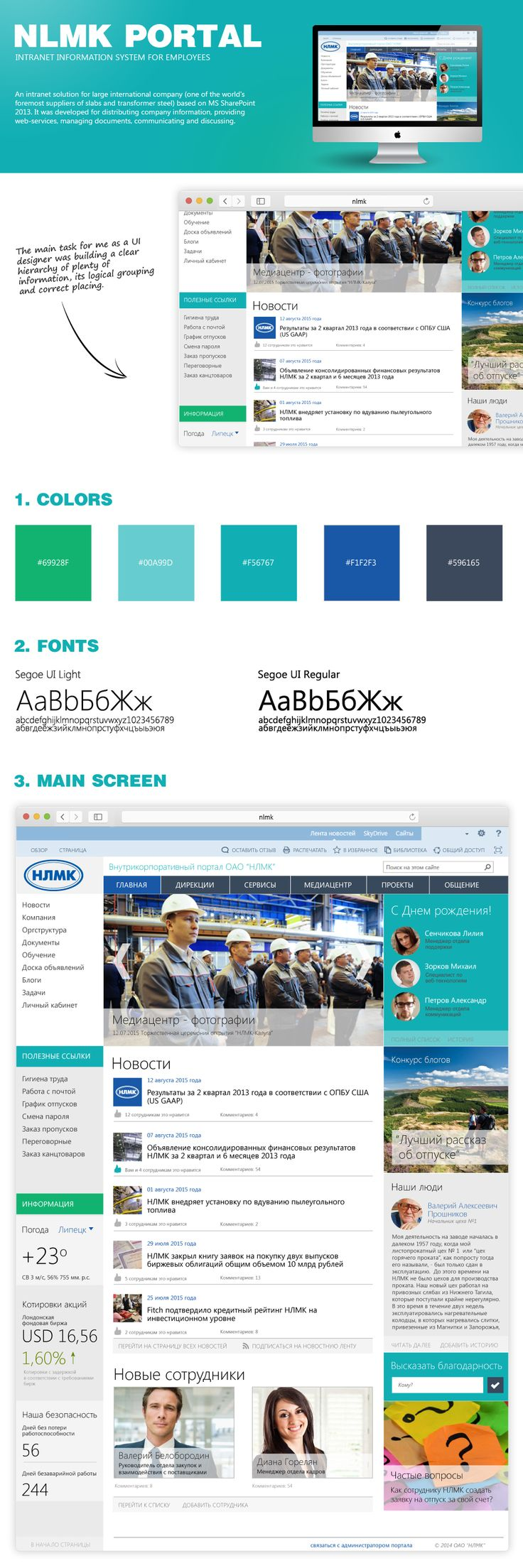 Sharepoint site design ideas - An Intranet Portal For A Large Company One Of The World S Foremost Suppliers Of Slabs