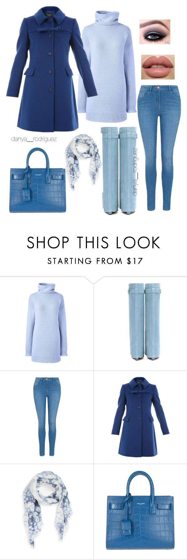 """""""Sin título #108"""" by sousou2578 on Polyvore featuring moda, Lands' End, George, Boutique Moschino, Nordstrom y Yves Saint Laurent"""