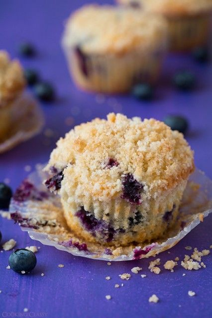 Blueberry Muffins with Streusel Topping   Cooking Classy