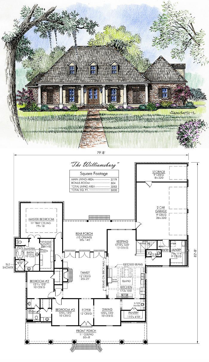 Madden home design the williamsburg love it favs for Madden house plans
