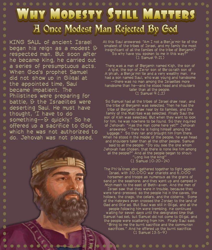 A Once Modest Man Rejected By God(1 Samuel 13:5-9)(1 Samuel 10:20-24)(1 Samuel 9:1,2)(1 Samuel 9:21)