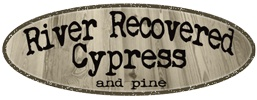 Logo for River Recovered Cypress Lumber Company - River Recovered Cypress and Pine is your go-to lumber of choice for Eco-Friendly building. Using sinker cypress and sinker heart pine helps to preserve our forests by utilizing the axe cut logs that were harvested hundreds of years ago from old growth virgin timbers. www.riverrecoveredcypress.com