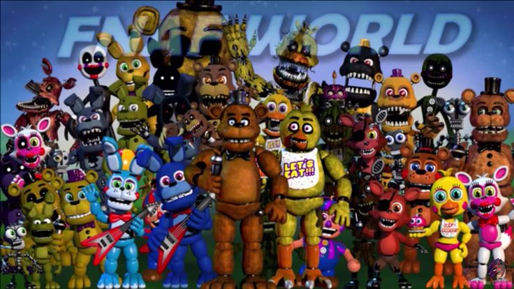 NEW UPDATE!!! Scott has added Toy Freddy, Original Springtrap, Bonnie, Nightmare Bonnie, Nightmare Fredbear, Nightmare, Withered Freddy, Withered Foxy, Purple Freddy, Phantom Marionette and Phantom Mangle. Also, Full Body Mangle now has a hook! Okay. Bye!!!