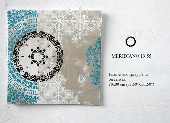 contemporary mandala, green mandala, mandala art, mandala painting, contemporary art, sacred geometry, mosoccan style, yoga