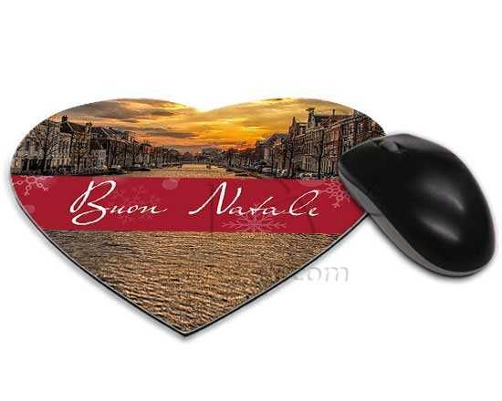 Tappetino mouse cuore Red Christmas Tappetini, Cuore e