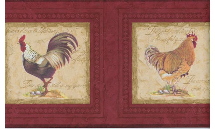 Clearance : Roosters Wallpaper Border 30706530