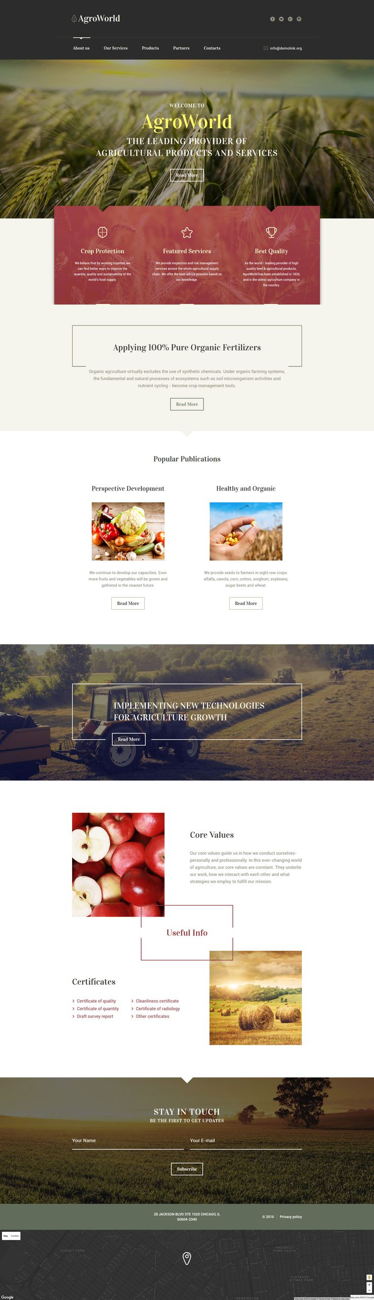 Agriculture Responsive Website Template http://www.templatemonster.com/website-templates/agriculture-responsive-website-template-58560.html