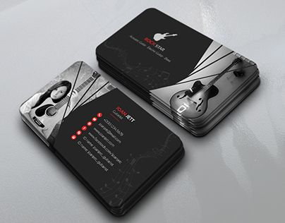 40 best music business images on pinterest business cards check out new work on my behance portfolio guitar musician business card reheart Gallery