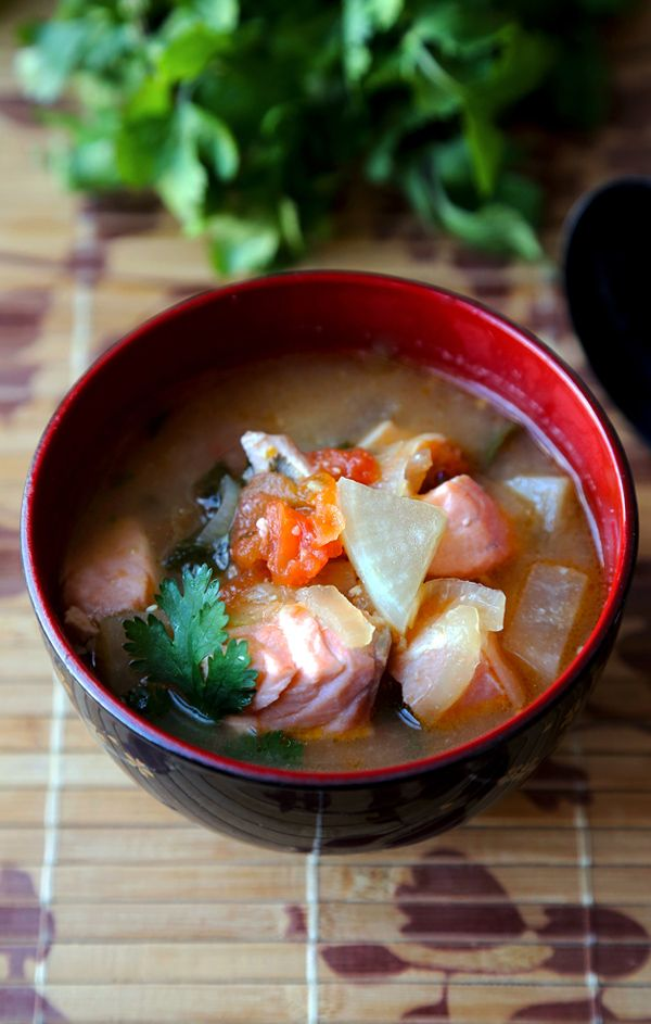 Salmon sinigang filipino sour soup recipe sour soup for Filipino fish recipes