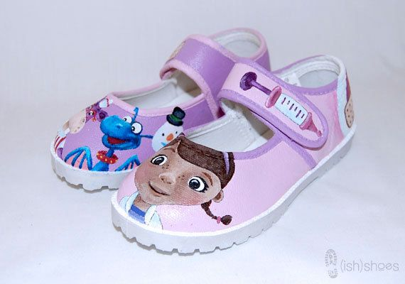 Hand Painted Doc McStuffins Shoes by wehaveishshoes on Etsy, $45.00