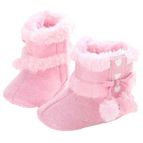 Bluestercool Chaussures bébé semelle souple neige Bottes souples Crib Toddler Bottes