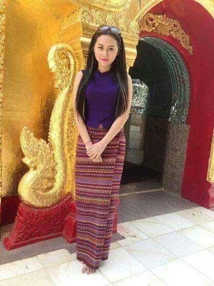 Cr.fb//myanmar dress design