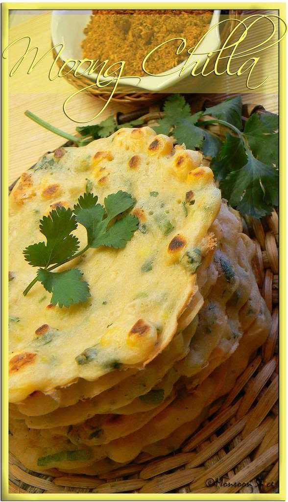 Moong Dal Chilla (Instant Dosa) - instant moong dal.n sweet corn pancakes
